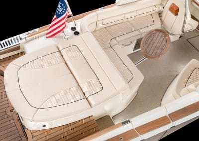 The 2019 Chris Craft Launch 25 GT Rear Interior
